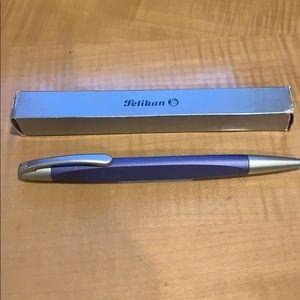 Pelikan unique brushed blue ballpoint pen